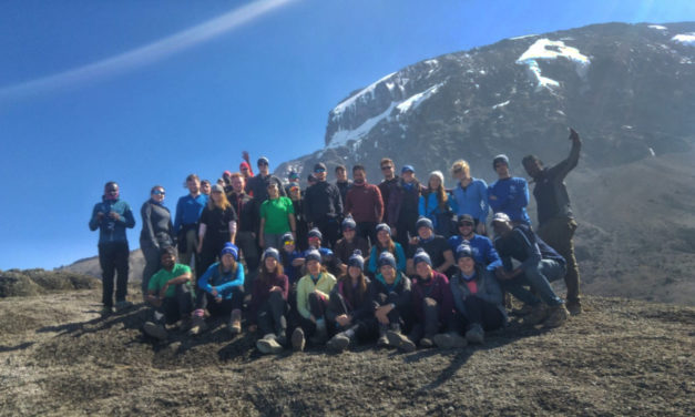 Bangor University students reach the summit of Kilimanjaro in aid of Mind