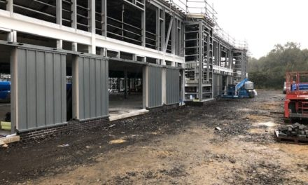 Building work progressing well on new Ysgol y Garnedd