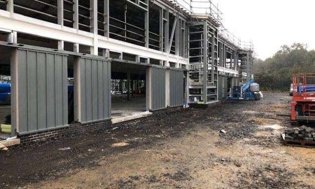 Building work progressing well on new Ysgol y Garnedd