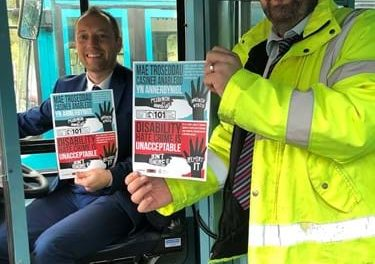 Police and Arriva Buses launch Disability Hate Crime Campaign