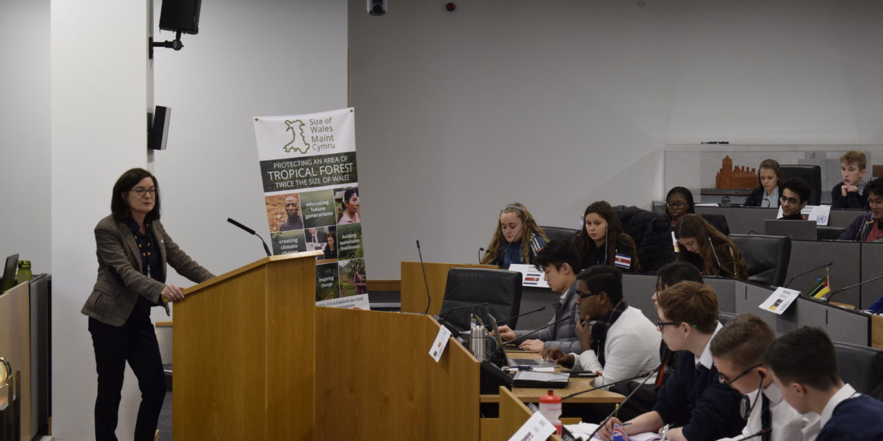 Bangor school pupils debate climate change at the National Assembly